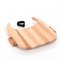 babybay Tischplatte Hochstuhlumrüstsatz passend für Modell Original, Maxi und Comfort, Kernbuche geölt