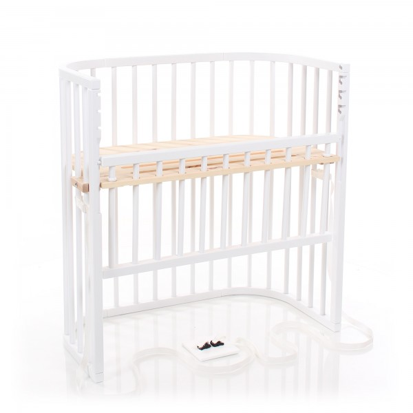 Babybay Boxspring Comfort Co Sleeper White Varnished With Lying Area Made Of Cembra Pine Babybay De
