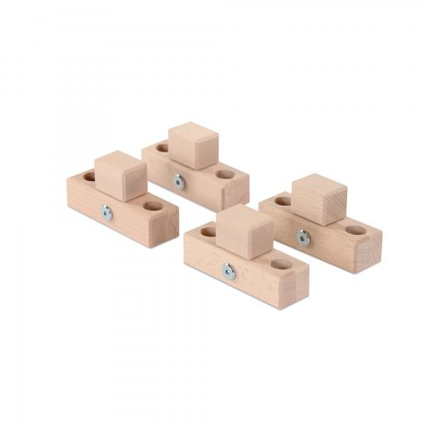 babybay Verbindungsbacken zum Laufstall passend für Modell Original, Midi, Mini, Maxi und Boxspring, natur unbehandelt