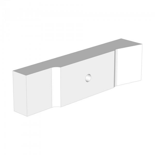 Standardgegenstück maxi advance hinten weiß lackiert
