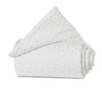 babybay Nestchen Organic Cotton passend für Modell Maxi, Boxspring, Comfort und Comfort Plus, weiß Glitzersterne mint