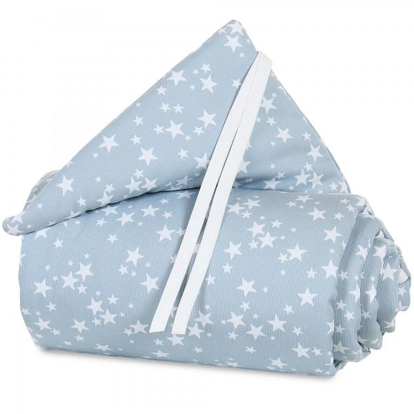 babybay Nestchen Piqué passend für Modell Maxi, Boxspring, Comfort und Comfort Plus, azurblau Sterne weiß