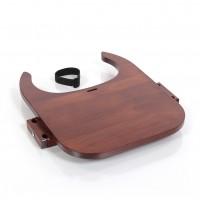 babybay Tischplatte Hochstuhlumrüstsatz für Original, Maxi und Comfort, dunkelbraun lackiert