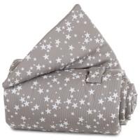 babybay Gitterschutz Piqué für Verschlussgitter alle Modelle, taupe Sterne weiß