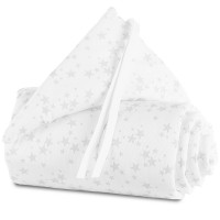babybay Nestchen Piqué passend für Modell Original, weiß Sterne perlgrau