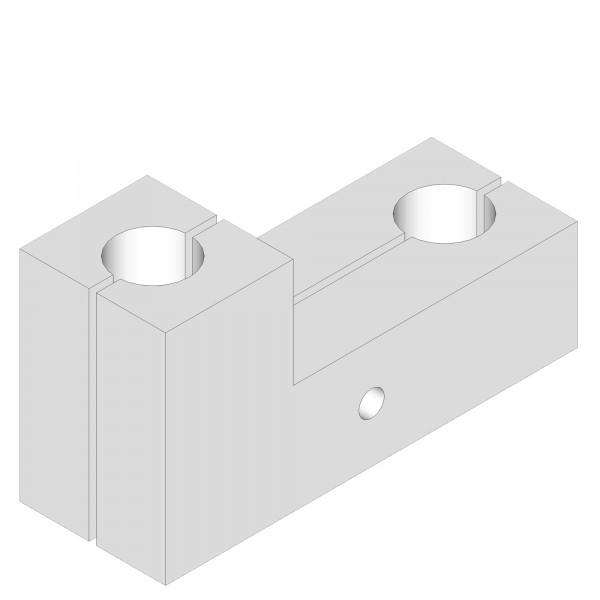 Zub(t) L-Verbindungsbacke rechts für Kinderbettumbausatz maxi/boxspring weiß lackiert 176102