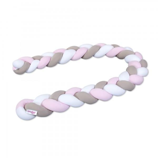 babybay Nestchenschlange geflochten passend für Kinderbetten, weiß/beige/rosé