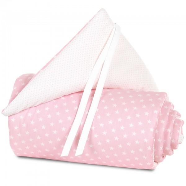 babybay Nestchen Organic Cotton für Midi und Mini, rose Sterne weiß