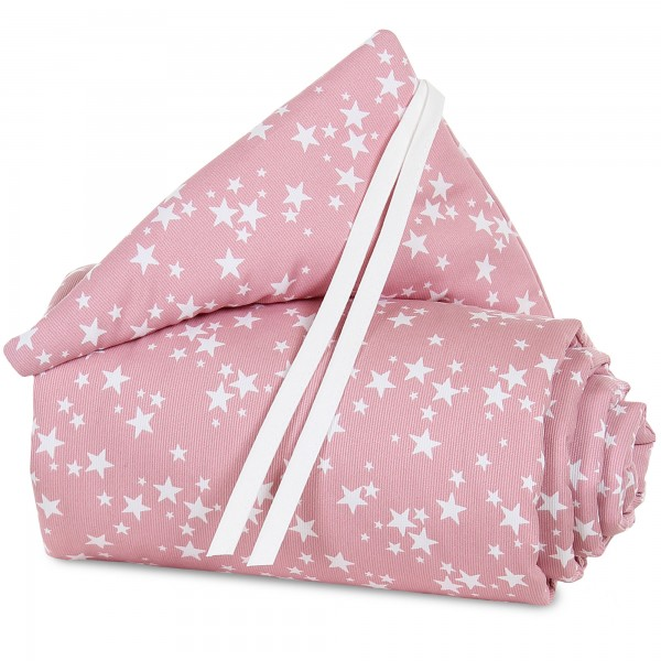 babybay Nestchen Piqué passend für Modell Midi und Mini, beere Sterne weiß