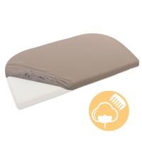 babybay Jersey Spannbetttuch Deluxe passend für Modell Verlängerungsseite Original, Maxi, Midi und Boxspring, nougat