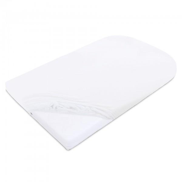 babybay Jersey Spannbetttuch passend für Modell Matratze Kinderbett-Umbausatz Original und Maxi weiß