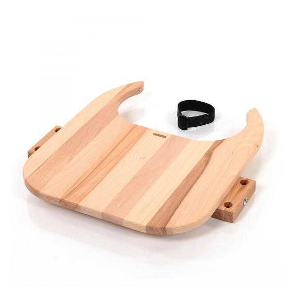 babybay Tischplatte Hochstuhlumrüstsatz passend für Modell Original, Maxi, Comfort und Comfort Plus, Kernbuche geölt