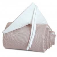 babybay Nestchen Cotton für Maxi, Boxspring und Comfort, braun/weiß