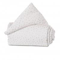 babybay Nestchen Organic Cotton passend für Modell Maxi, Boxspring und Comfort, weiß Glitzersterne s
