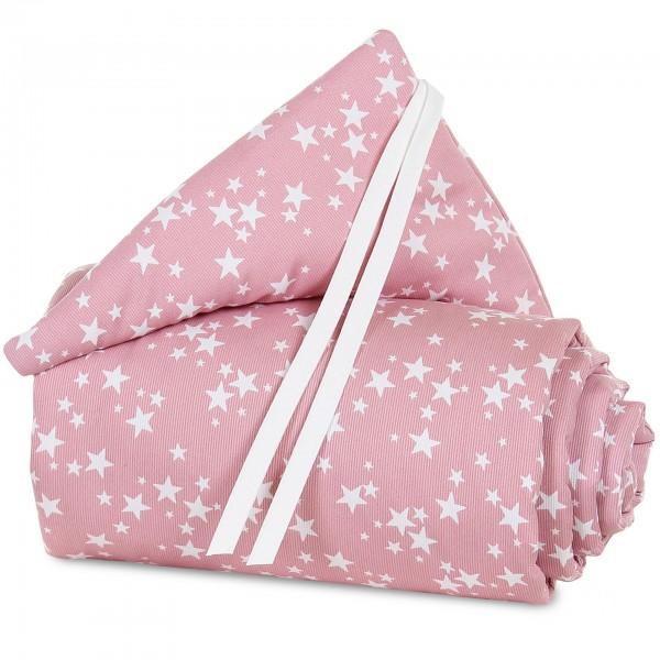 babybay Nestchen Piqué passend für Modell Boxspring XXL, beere Sterne weiß