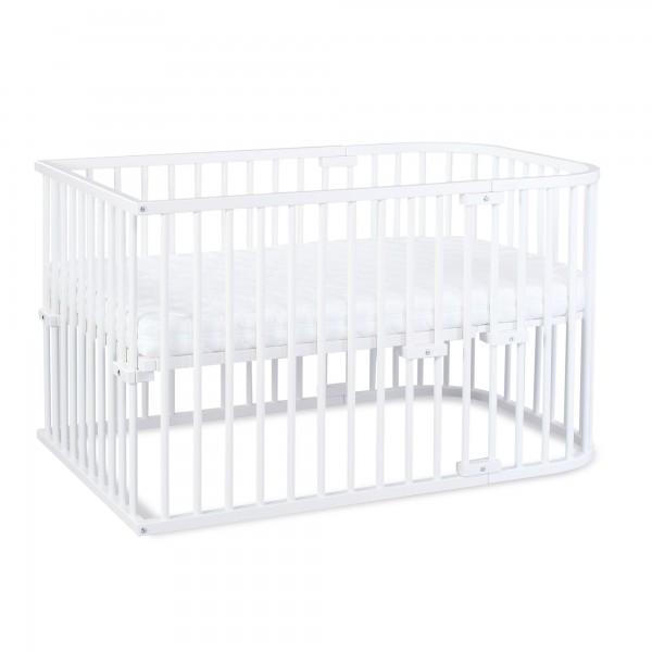 babybay Kinderbett-Set Maxi mit Matratze Klima Wave und Umbausatzmatratze Klima extraluftig
