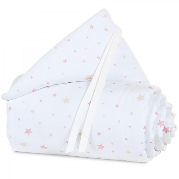 babybay Nestchen Piqué passend für Modell Maxi, Boxspring und Comfort, weiß Sternemix sand/beere