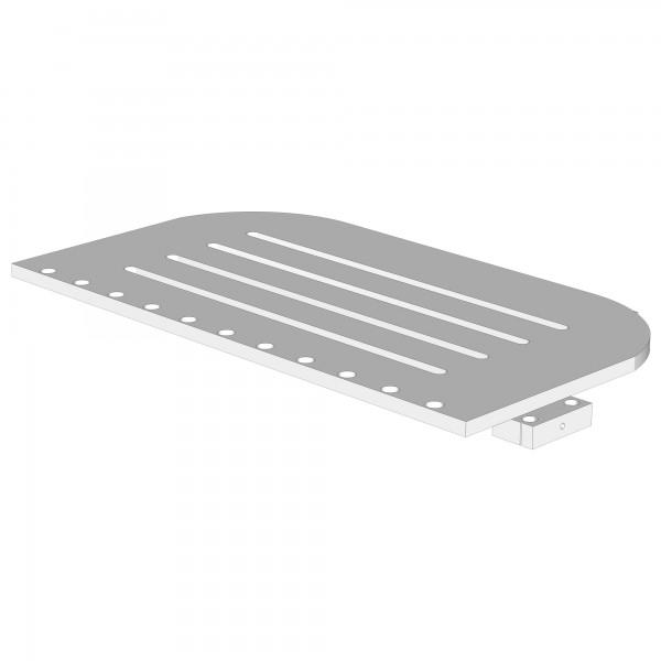 Bodenplatte für babybay boxspring comfort schiefergrau lackiert