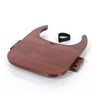 babybay Tischplatte Hochstuhlumrüstsatz passend für Modell Original, Maxi und Comfort, dunkelbraun lackiert