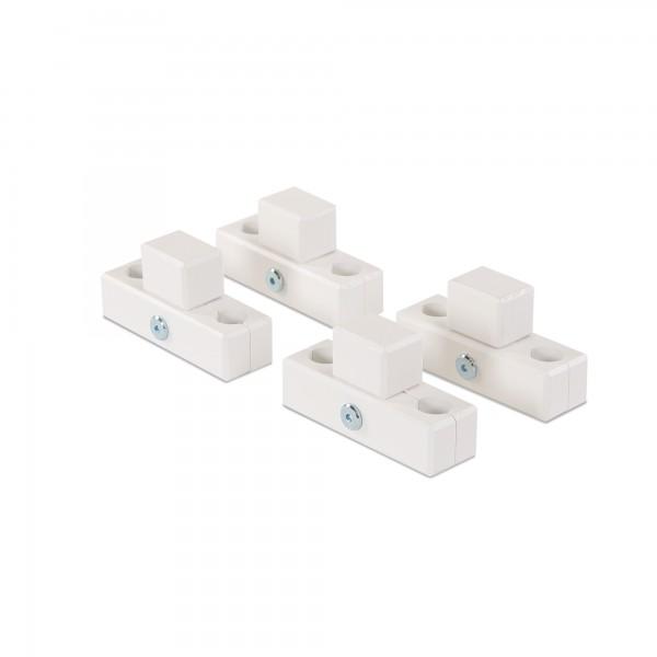 babybay Verbindungsbacken zum Laufstall passend für Modell Original, Midi, Mini, Maxi und Boxspring, weiß lackiert