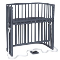 babybay Boxspring Comfort Plus Beistellbett, schiefergrau lackiert