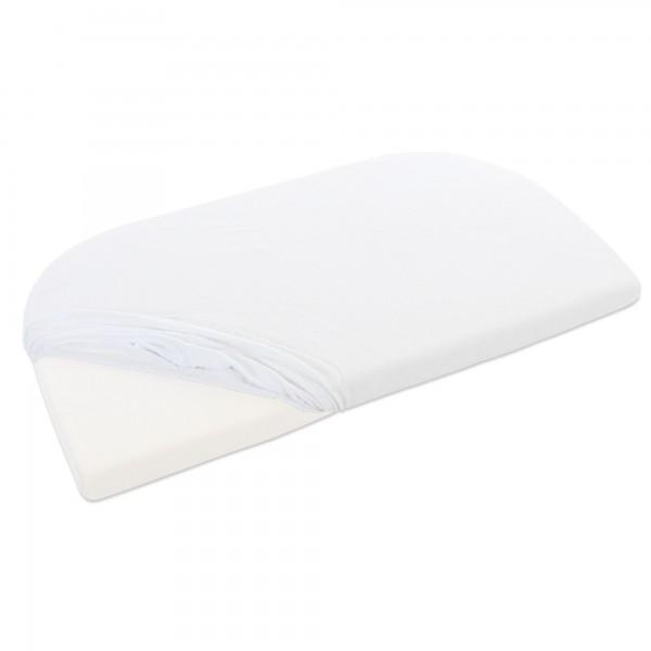 babybay Frottee Spannbetttuch mit Membran passend für Modell Maxi, Midi, Boxspring, Comfort und Comfort Plus, weiß