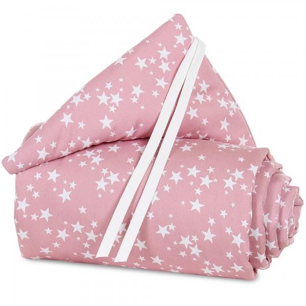 babybay Nestchen Piqué passend für Modell Maxi, Boxspring und Comfort, beere Sterne weiß