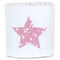 babybay Nestchen Piqué passend für Modell Maxi, Boxspring, Comfort und Comfort Plus, weiß Applikation Stern beere Sterne weiß