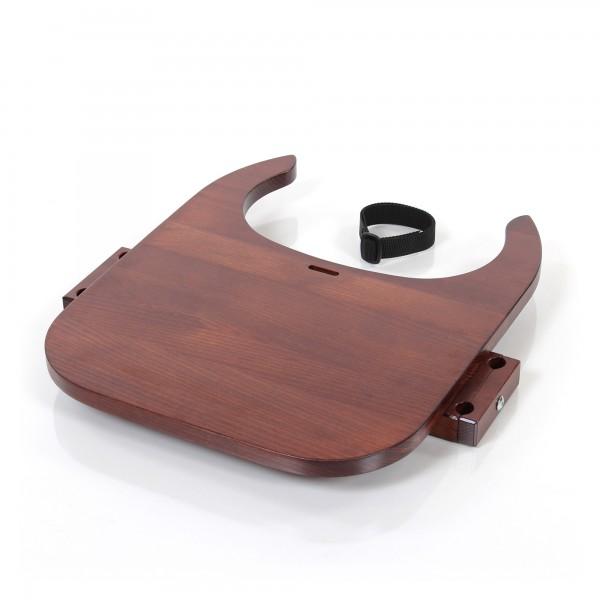 babybay Tischplatte Hochstuhlumrüstsatz passend für Modell Original, Maxi, Comfort und Comfort Plus, dunkelbraun lackiert