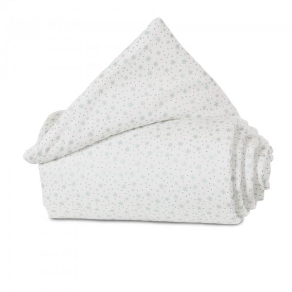 babybay Nestchen Organic Cotton passend für Modell Original, weiß Glitzersterne mint