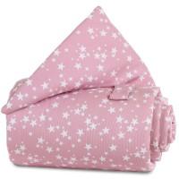 babybay Gitterschutz Piqué für Verschlussgitter alle Modelle, beere Sterne weiß