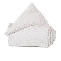 babybay Nestchen Organic Cotton passend für Modell Maxi, Boxspring und Comfort, weiß Glitzersterne silber
