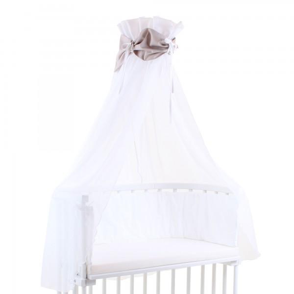 babybay Himmel Cotton mit Schleife passend für alle Modelle, braun/weiß