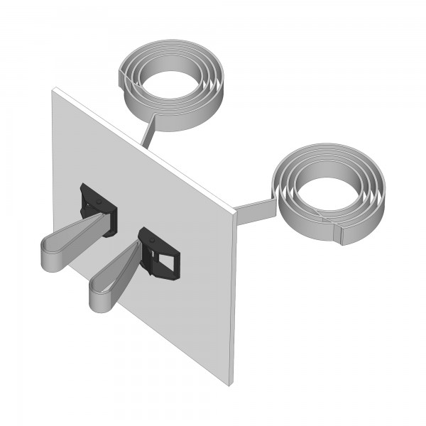 Zub(e) Befestigungsset für alle babybay Boxspring Modelle schiefergrau lackiert 166107/196107/168107/196117