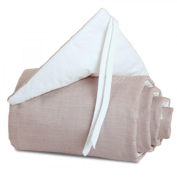 babybay Nestchen Cotton passend für Modell Maxi, Boxspring und Comfort, braun/weiß
