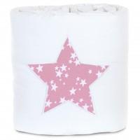 babybay Nestchen Piqué passend für Modell Maxi, Boxspring und Comfort, weiß Applikation Stern beere