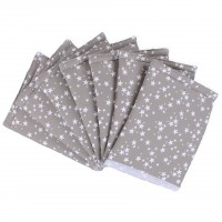 babybay Nestchen Ultrafresh Piqué für Maxi, Boxspring, Comfort, Mini und Midi, taupe Sterne weiß
