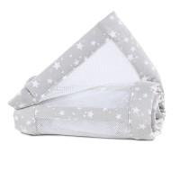babybay Nestchen Mesh-Piqué passend für Modell Original, perlgrau Sterne weiß