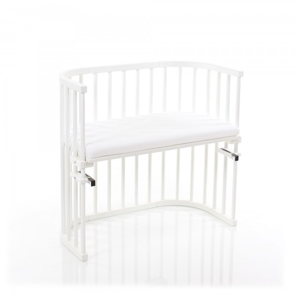 Babybay Original Co Sleeper White Varnished With Mattress Classic Soft Babybay De