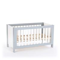 babybay Kinder-, Baby- und Beistellbett All in One 70x140, hellgrau/weiß lackiert