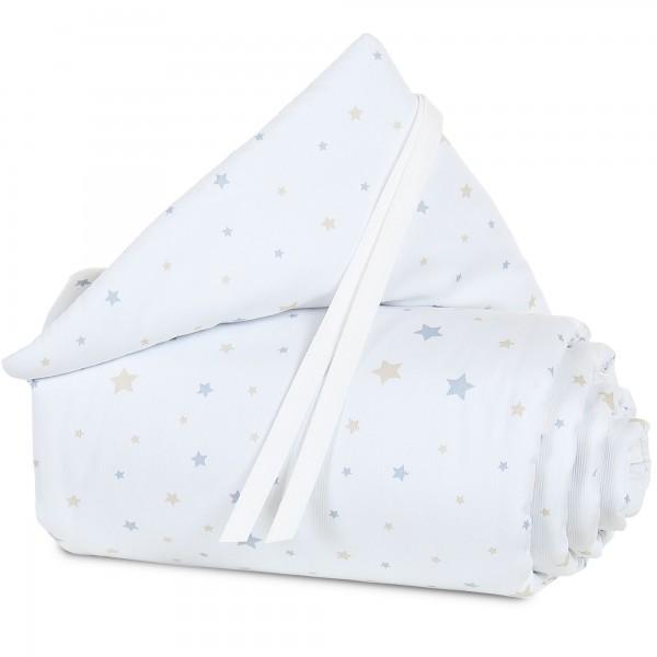 babybay Nestchen Piqué passend für Modell Midi und Mini, weiß Sternemix sand/azurblau