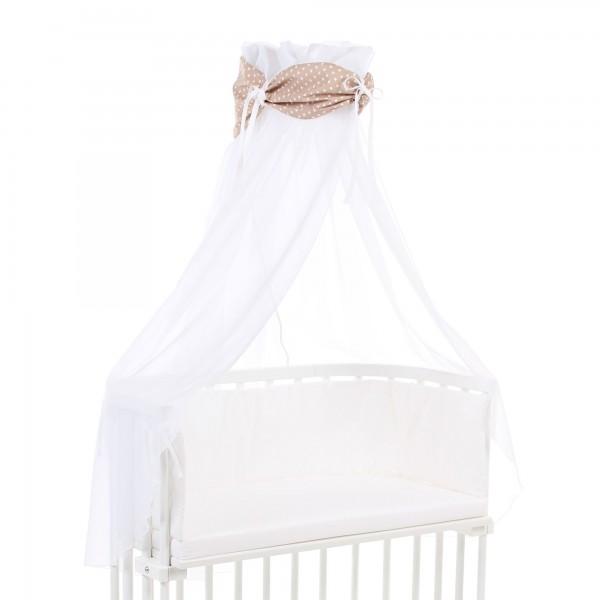 babybay Himmel Organic Cotton mit Schleife passend für alle Modelle, hellbraun Sterne weiß
