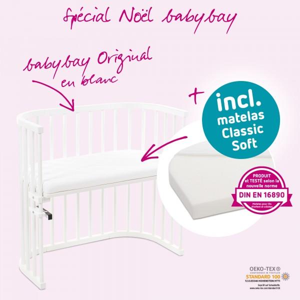 Babybay Maxi Bestellbett natur lackiert mit Verschlussgitter