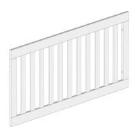 Zub(k) Seitenteil ohne Schlupfsprossen für All in One Kinderbett hellgrau/weiß lackiert 402105
