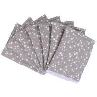 babybay Nestchen Ultrafresh Piqué passend für Modell Maxi, Boxspring, Comfort, Mini und Midi, taupe Sterne weiß