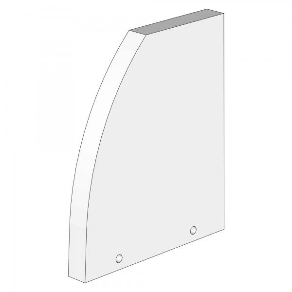 Zub(b) Seitenteil für Verlängerungsseite weiß lackiert 100662/160662