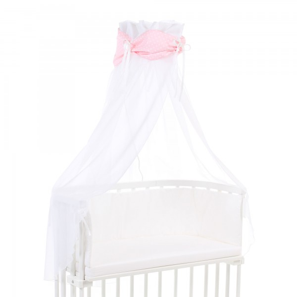 babybay Himmel Organic Cotton mit Schleife passend für alle Modelle, rose Sterne weiß