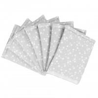 babybay Nestchen Ultrafresh Piqué für Maxi, Boxspring, Comfort, Mini und Midi, perlgrau Sterne weiß