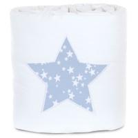 babybay Nestchen Piqué passend für Modell Maxi, Boxspring und Comfort, weiß Applikation Stern azurblau Sterne weiß