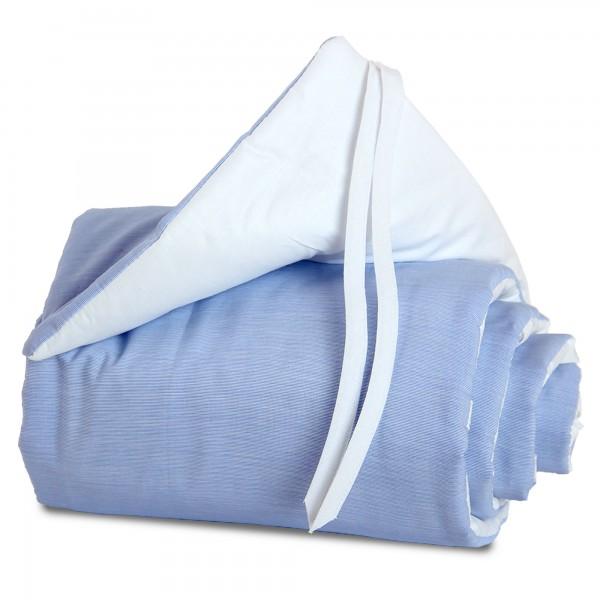 babybay Nestchen Cotton passend für Modell Midi und Mini, blau/weiß
